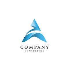 creative letter a logo vector image vector image