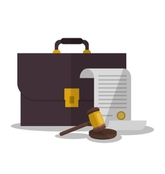 Document and suitcase of law and justice design vector