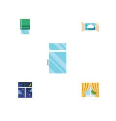 flat icon frame set of frame glass frame clean vector image vector image