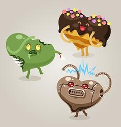 fun valentines hearts vector image