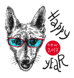 hand drawn sketch dog vector image vector image
