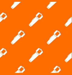 hand flashlight pattern seamless vector image vector image
