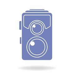 Hipster photo or camera icon retro old photo vector