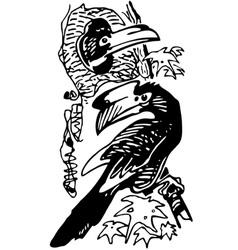 hornbill bird vector image vector image