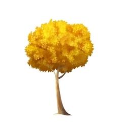Isolated Autumn Tree vector image