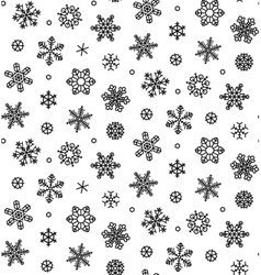 isolated snowflakes - stock vector image vector image