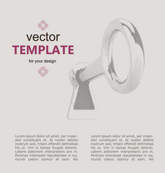 key for web banner web vector image