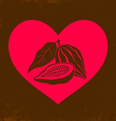 Love chocolate vintage vector image