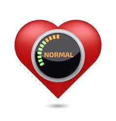 Normal blood pressure digital concept vector image vector image