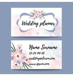 Pastel feminine business card template vector