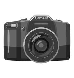 Photo camera icon gray monochrome style vector image