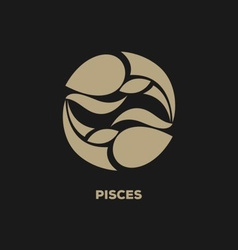 Pisces Horoscope Icon vector image vector image