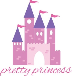 Pretty princess vector