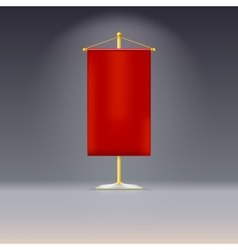 Red pennant or flag on yellow base with vector