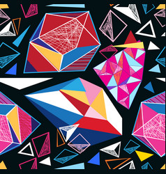 seamless geometric pattern of triangles vector image vector image