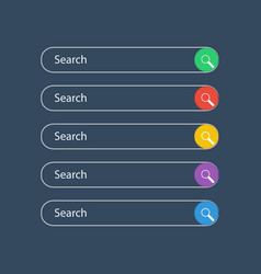 search bar field set of search bar boxes vector image