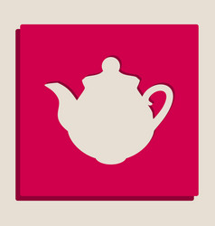 Tea maker kitchen sign grayscale version vector