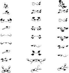 Retro text dividers set vector image