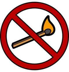 No fire icon vector