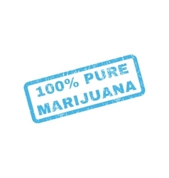 100 Percent Pure Marijuana Rubber Stamp vector image