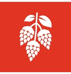 Hops icon beer and hop hops symbol ui web vector