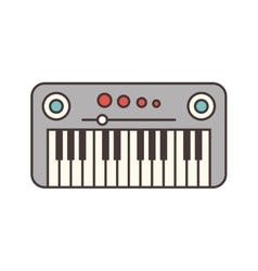Synthesizer electric isolated icon vector