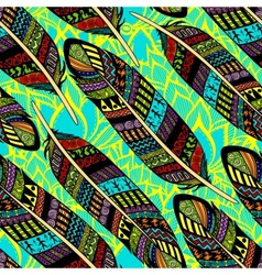 seamless pattern with etno ornate colorful vector image
