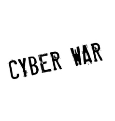 Cyber war rubber stamp vector