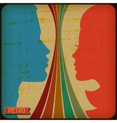 Retro poster with abstract grunge background vector