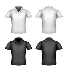 male polo shirt isolated on white vector image