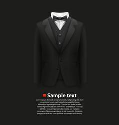 jacket over a black background vector image