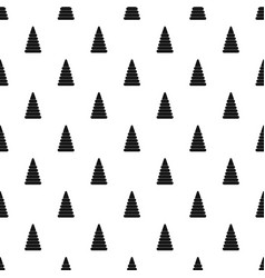 Pyramid built from plastic rings pattern vector
