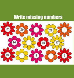 Mathematics educational game for children write vector
