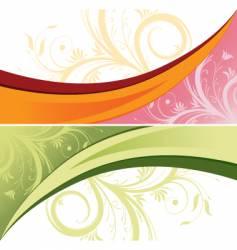 Flower design background vector