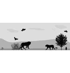 Wild animals on the prowl vector