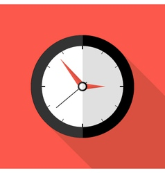 Clock deadline flat icon vector