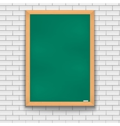 Green school board brick wall vector
