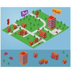 Isometric small map vector