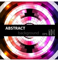 Abstract geometric disco glowing of background vector