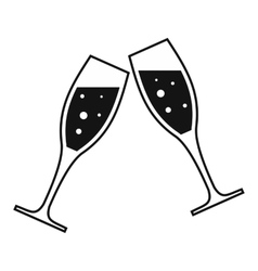Two glasses simple icon vector