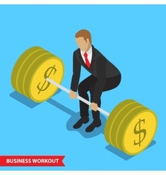 Business workout deadlift vector
