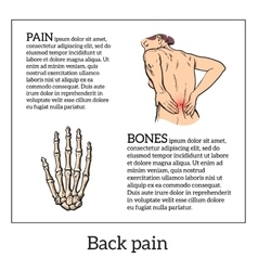Low back pain in women black and white sketch vector