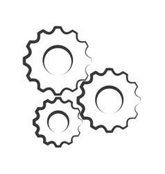 Gear machine design isolated cog icon vector