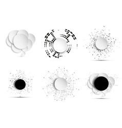 Abstract elements with the social network vector image