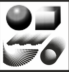 Abstract geometric figures black and white vector