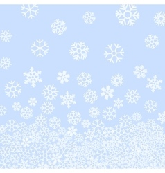 Abstract pattern of falling snowflakes vector