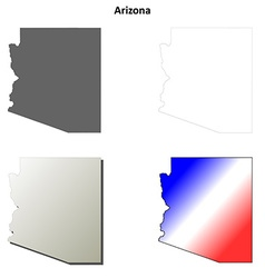 Arizona outline map set vector