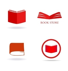 Book store or library logo sign vector image vector image