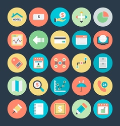 Business colored icons 3 vector