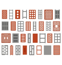 clay and concrete bricks vector image vector image